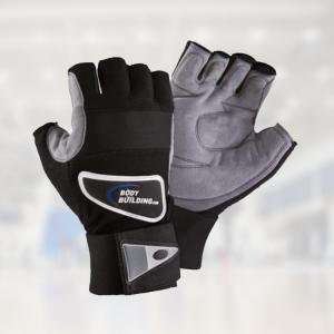 half fingersless gym gloves