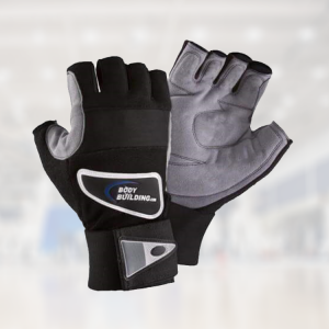 half fingersless gym gloves