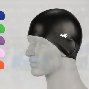 Spurt Silicone Swimming Cap